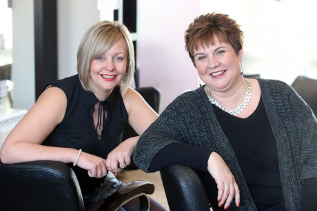 Janine O'Callaghan (right) and business partner Donna Friend, joint owners of Spirit Hair Team.