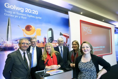 NTfW Conference speakers - L-R Peter Rees, Ewart Keep, Julie James AM, John Graystone, Helen Hoffmann and Toni Pearce.