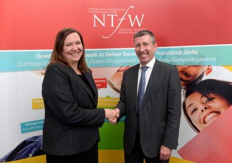The NTfW's chair Sarah John with vice chair Paul Napier.