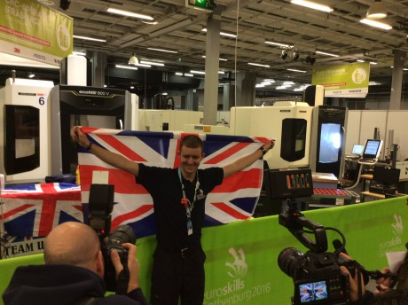 Ethan Davies, Coleg Cambria at EuroSkills 2016