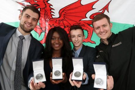 Winners (L to R) Joseph Massey, Elizabeth Forkuoh, Alfie Hopkin and Ethan Davies